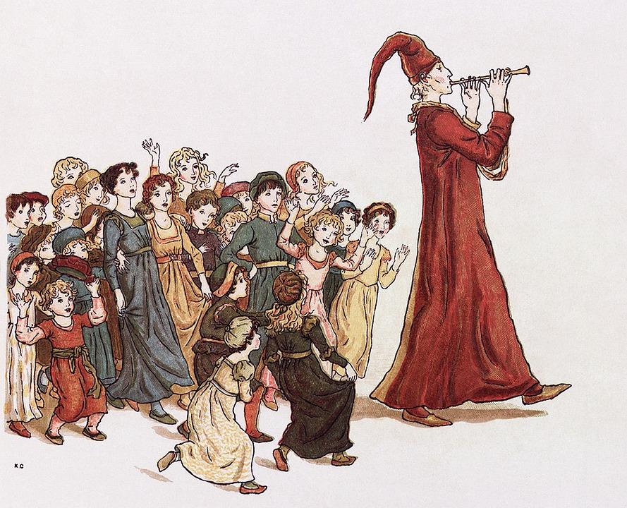 セージ, ハーメルンの笛吹き, お絵かき, フルート奏者, フルート, 子供達, おとぎ話, 佐賀