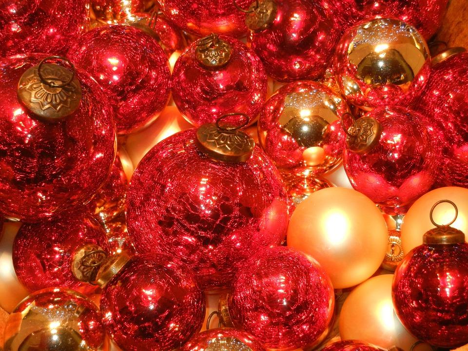 kerstmis ballen rood verlichting kerst ornamenten
