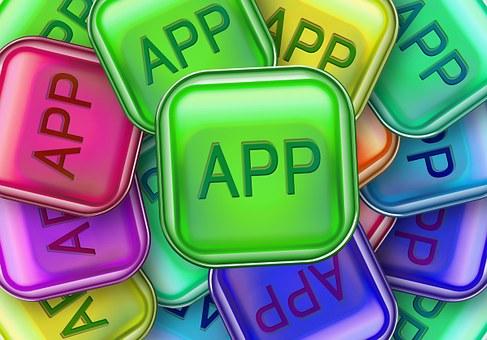 アプリ, アイコン, アプリケーション, 緑, 黄色, コンピューター, ロゴ