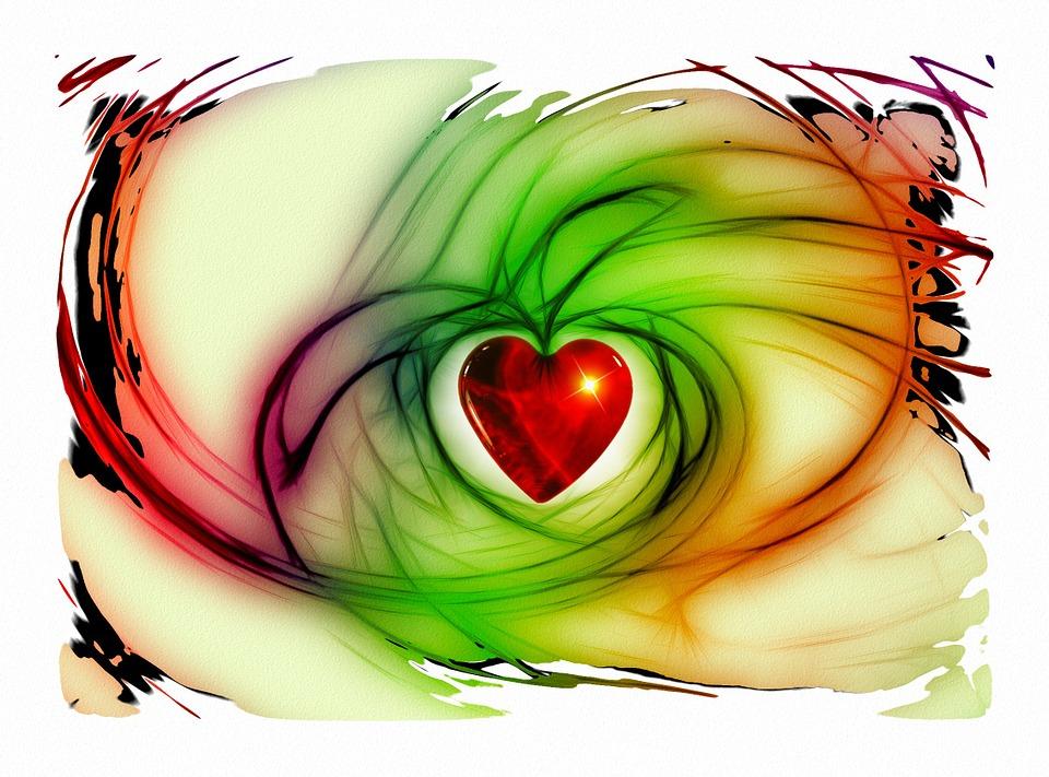 Serce, Miłość, Szczęście, Abstrakcyjny, Relacja