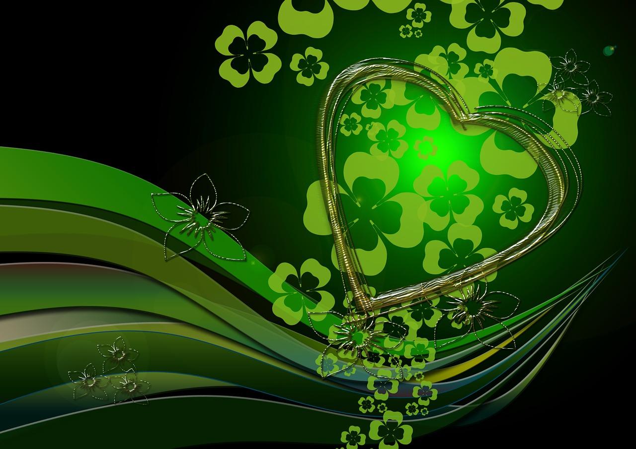 Открытки с зеленым фоном