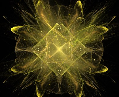 Fractal, Abstract, Yellow, Design, Light