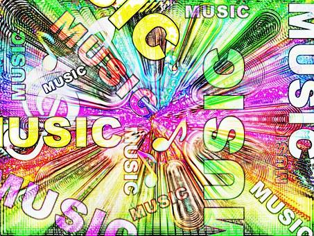 Musique, Résumé, Son, Coloré, Design