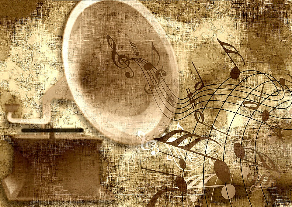 Dźwięk, Stary, Streszczenie, Nuty, Muzyka, Gramofon