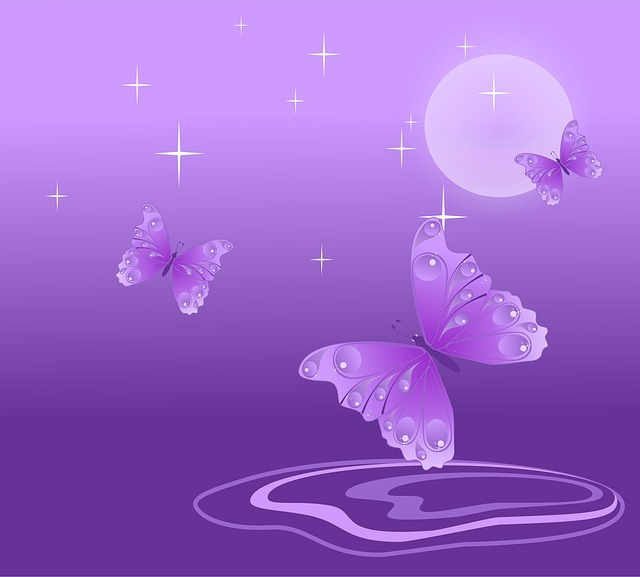 Free Illustration: Butterfly, Purple, White, Design