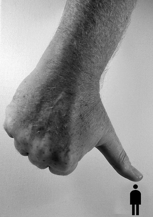 Strony, Kciuk, Mench, Silhouette, Ciśnienie