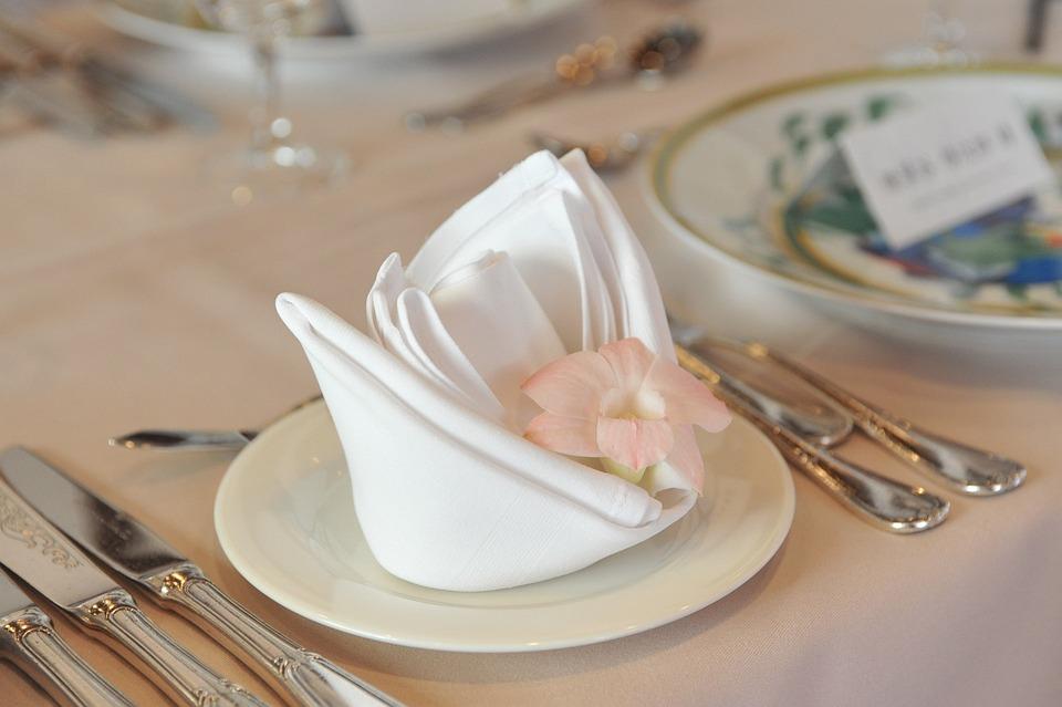 Servietten Blume Tabelle Gruppe · Kostenloses Foto auf Pixabay