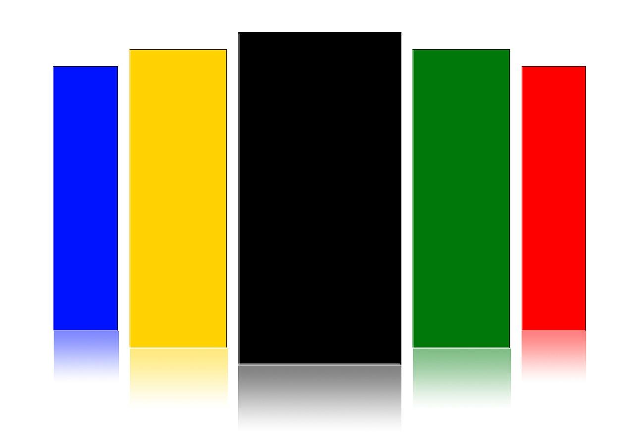 Красный синий желтый черный картинка