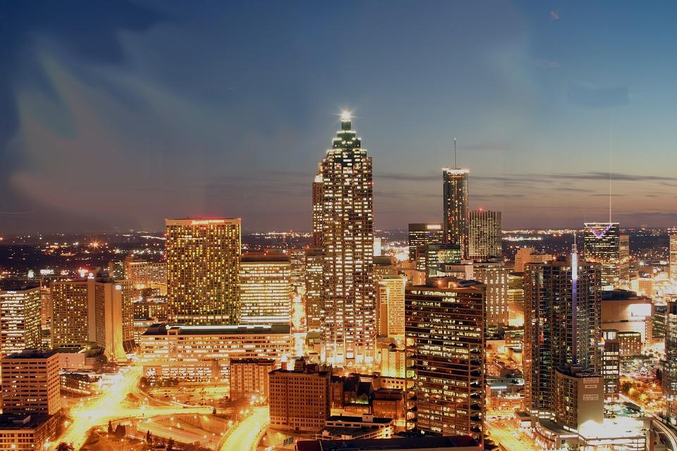 Atlanta, Georgia, Skyline, City, Buildings, Skyscrapers
