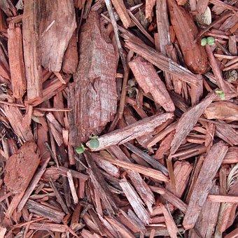 Mulch, Red, Gardening, Ground, Outdoor