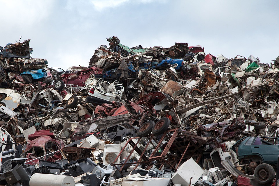 ハイギア, リサイクル, ダンプ, ガベージ, 金属, スクラップ ヤード, 杭, 鉄, 廃棄物, さび