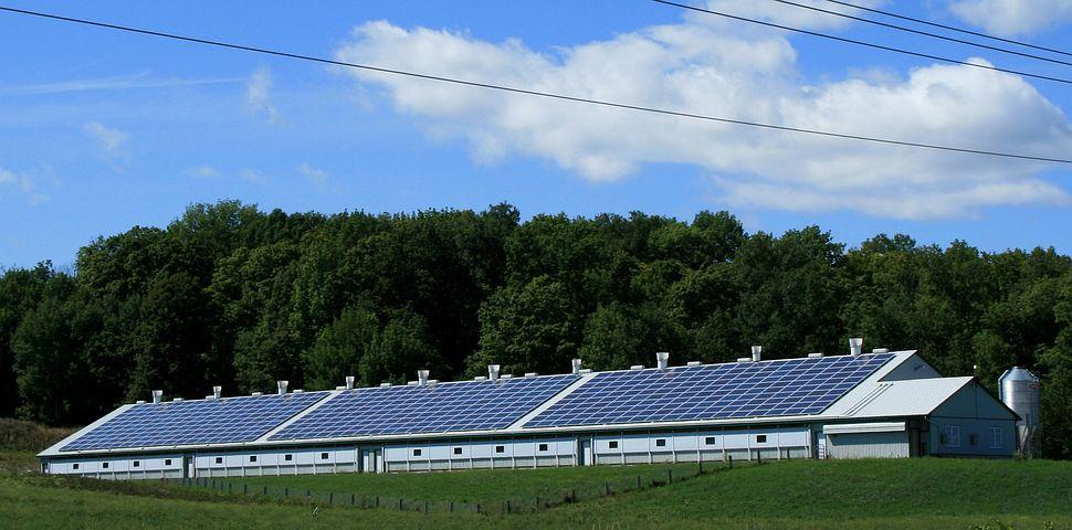 Solar Power, Sun, Barn, Power, Energy
