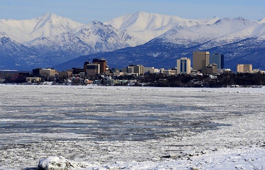 Anchorage, Alaska, Skyline, Mountains