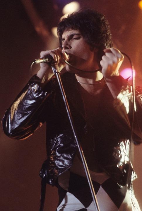 Freddie Mercury in a concert