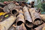 scrap iron, metal, pipes