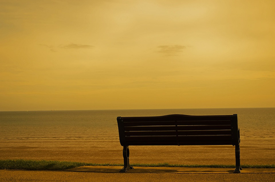 Panchina Mare Nero Di Seppia Foto Gratis Su Pixabay