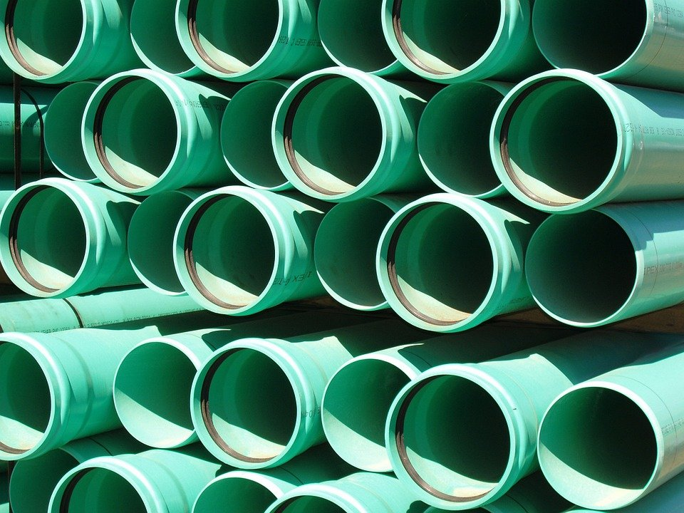 Free photo green plastic pipes culvert image on