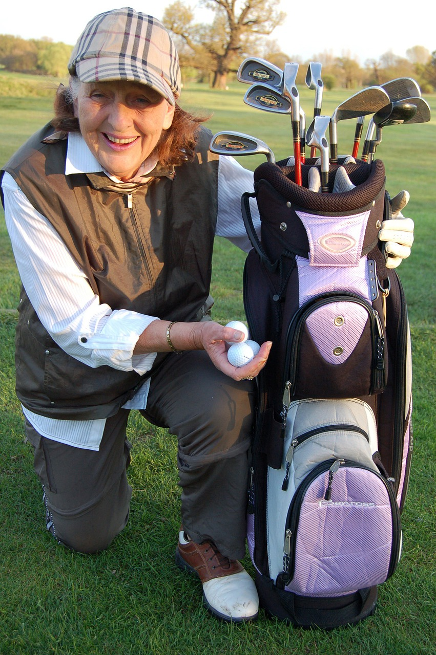 Old fashioned lady golfers Cure A Golf Slice - Golf Swing Flat Upright Swing - The