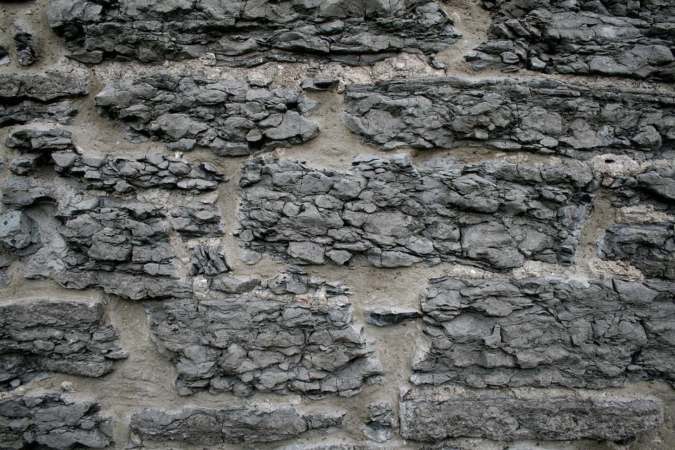 stein wand alte grau beton muster design textur - Steinwand Grau