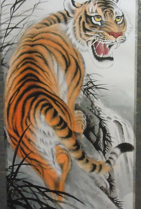 Harimau Karya Seni Kucing Foto Gratis Di Pixabay