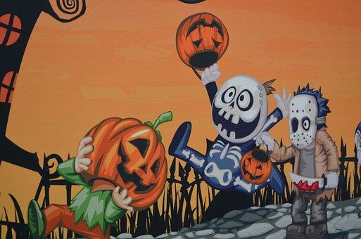Halloween, Kürbis, Dekoration, Zeichen