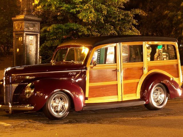 Vw Camper Van >> Woody Van Truck · Free photo on Pixabay