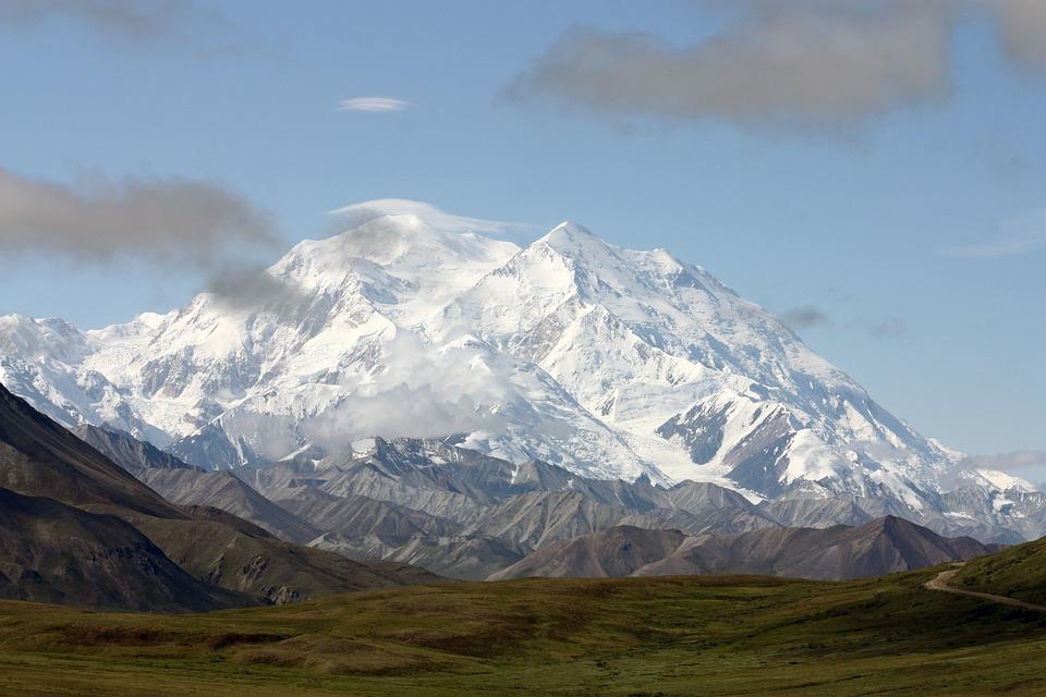 Mount Mckinley, Charakter, Krajobraz, Alaska, Mckinley
