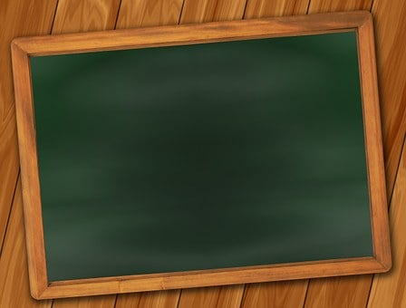 Board School Blackboard Empty Leave Chalk