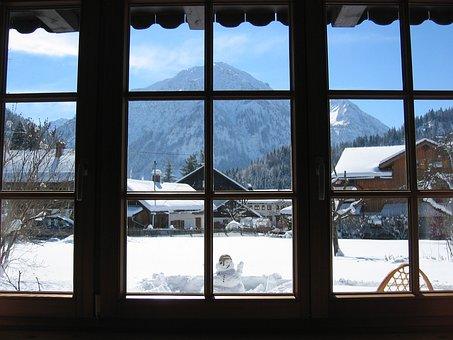 Aussicht Allgäu Breitenberg Berge Fensterb