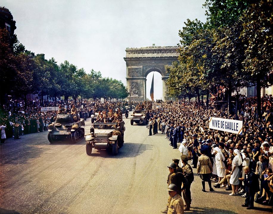 Arc De Triomphe, Párizs, Avenue Des Champs Elysées