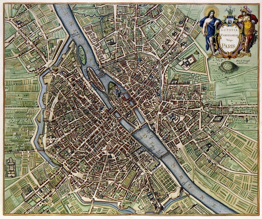 Paris Map City Free image on Pixabay