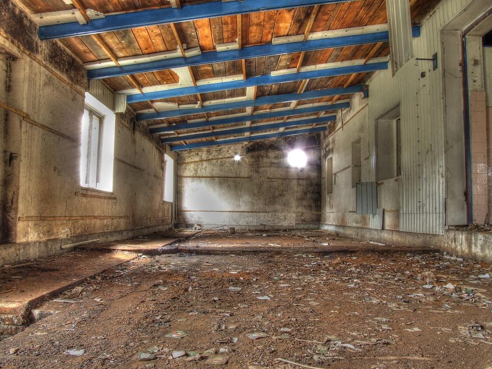 Hdr, Garage, Old, Abandoned, Hall, Workshop, Factory