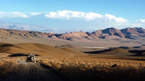 Landscape, Truck, Andes, Dessert, Lonely