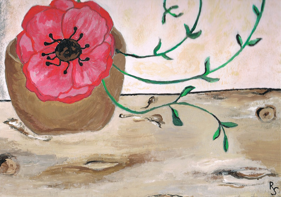Malen Bild Mohnblume Kostenloses Foto Auf Pixabay