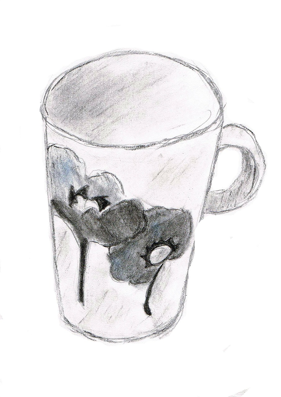 Drawing Cup Sketch Free Photo On Pixabay