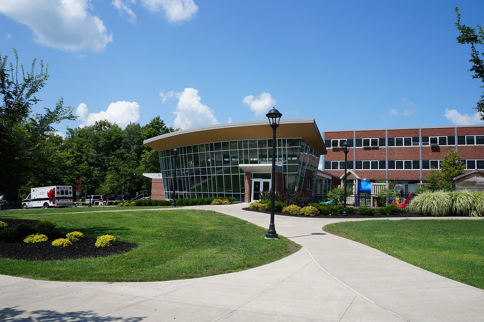 College, Campus, Building, University, Education