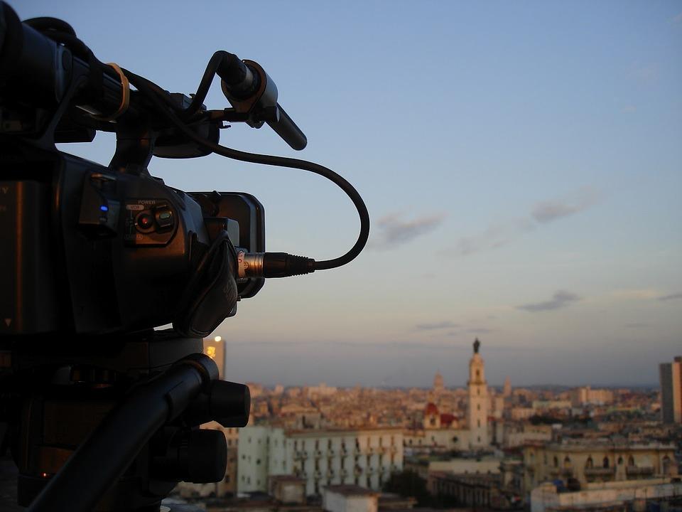 Filming, Cinema, Camcorder, Cuba, Havana