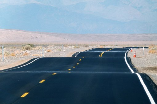 Paved Road, Death Valley, California