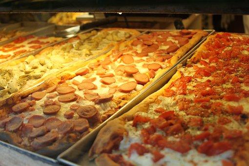 Pizzas, Peperoni, Food, Sliced, Italian