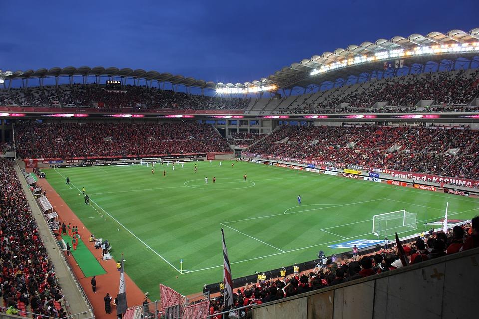 Stadion, Feld, Ort, Fußball, Menge, Zuschauer, Sport