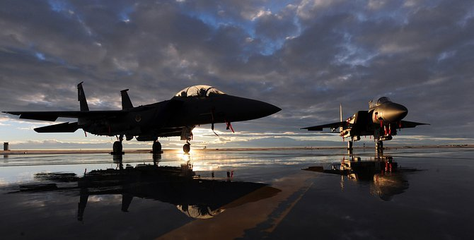 Us Air Force, F-15E, Fighter Jet