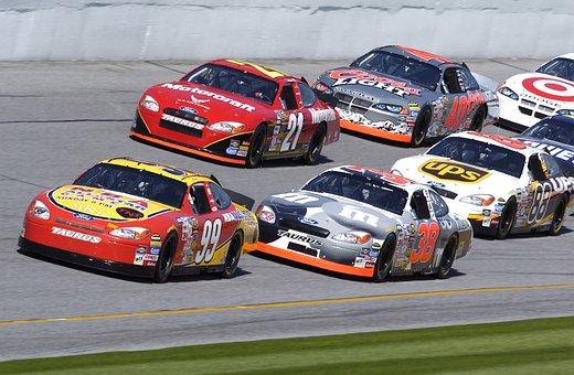 Race, Racing, Cars, Vehicles, Nascar