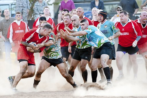 Rugby Sports Players Competition Rough Tac