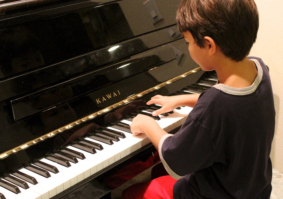 Piano, Boy, Playing, Learning, Piano Lesson