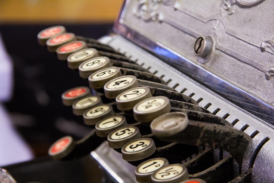 cash register keys numbers vintage antique details