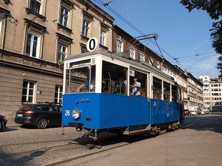 Krakow, Poland, City, Streetcar