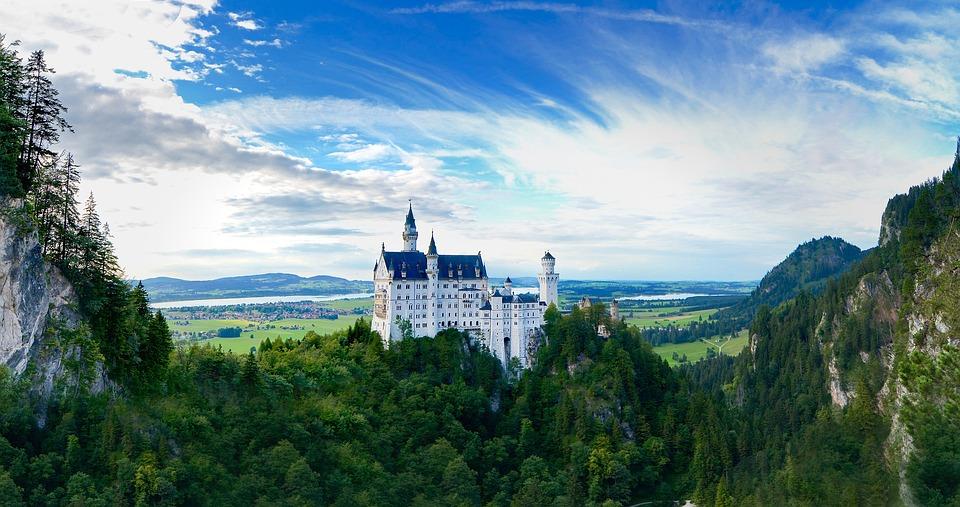 Germany, Neuschwanstein, Castle, Buildings