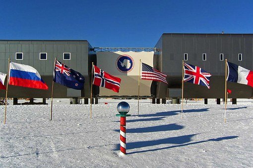 Antarctica, Camp, Buildings, Winter