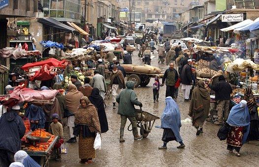 Afghanistan, Ville, Personnes, Marchands