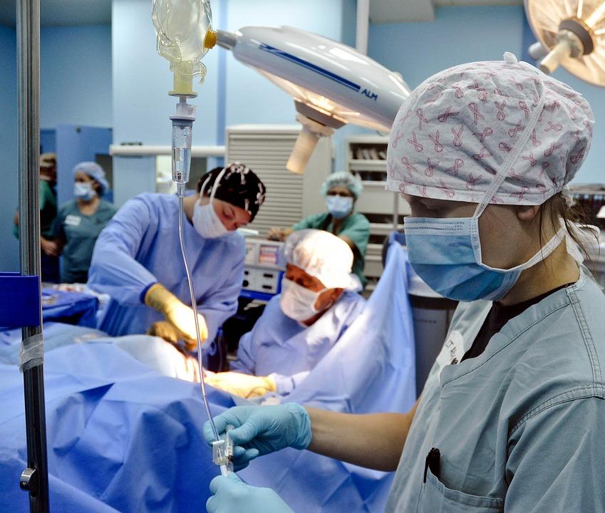手術, 操作, 病院, 外科チーム, 医学, 内部, 医師, 看護師